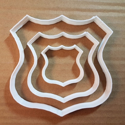 Route Sign Road 66 Plaque Shape Cookie Cutter Dough Biscuit Pastry Fondant Sharp Stencil Award