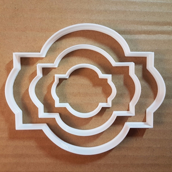 Plaque Sign Train Road Shape Cookie Cutter Dough Biscuit Pastry Fondant Sharp Stencil Name Plate Prize Award