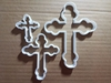 Cross Crucifix Church Shape Cookie Cutter Dough Biscuit Pastry Fondant Sharp Stencil Holy Xmas Christmas Religious