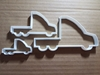 Truck Lorry Cab Wagon Car Shape Cookie Cutter Dough Biscuit Pastry Fondant Sharp Stencil Vehicle Automobile Vehicle Mobile Auto