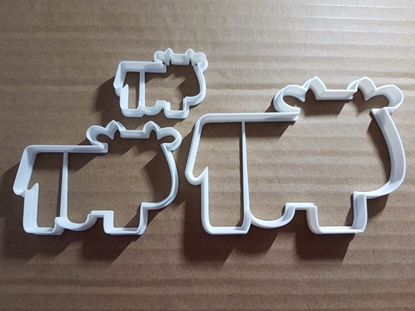 Cow Calf Bull Farm Animal Shape Cookie Cutter Dough Biscuit Pastry Fondant Sharp Stencil Farmyard Barn