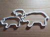 Rhinoceros Rhino Zoo Shape Cookie Cutter Animal Biscuit Pastry Fondant Sharp Dough Stencil Mammal African