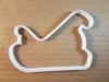 Santa Sleigh Christmas Shape Cookie Cutter Xmas Biscuit Pastry Fondant Sharp Dough Stencil Vehicle Sled