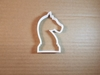 Chess Knight Piece Game Shape Cookie Cutter Dough Biscuit Pastry Fondant Sharp Stencil Horse