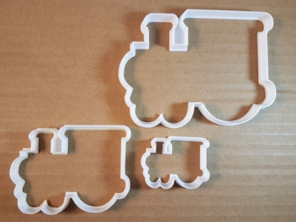 Steam Train Cab Tram Shape Cookie Cutter Dough Biscuit Pastry Fondant Sharp Stencil Cart Railway