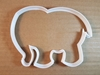 Elephant Mammal Animal Shape Cookie Cutter Dough Biscuit Pastry Fondant Sharp Stencil African