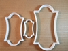 Plaque Sign Notice Board Shape Cookie Cutter Dough Biscuit Pastry Fondant Sharp Stencil Name Plate Frame Award