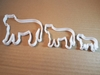 Tiger Lioness Leopard Shape Cookie Cutter Animal Biscuit Pastry Fondant Sharp Dough Stencil Jaguar Jungle Big Cat Feline Mammal