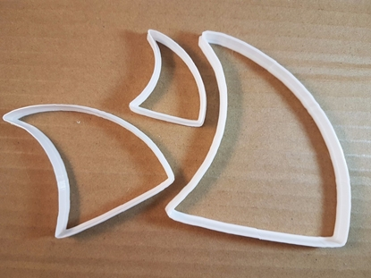 Shark Fin Animal Wave Shape Cookie Cutter Dough Biscuit Pastry Fondant Sharp Beach Stencil Seaside Sea Ocean