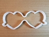 Heart Joined Couple Shape Cookie Cutter Dough Biscuit Pastry Fondant Sharp Shaped Glasses Love Valentine's Day Wedding Stencil