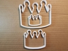 Crown Monarch Jewel King Shape Cookie Cutter Dough Biscuit Pastry Fondant Sharp Queen Royal Gem Jewels Tiara Hat