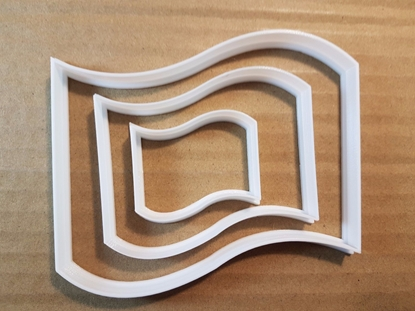 Flag Symbol Graphic Sign Shape Cookie Cutter Dough Biscuit Pastry Fondant Sharp Stencil Country National Beach