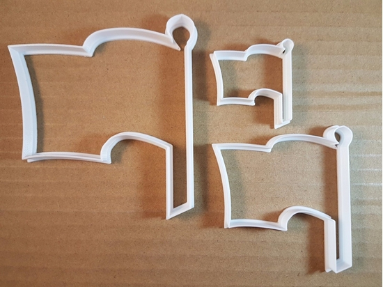 Flag Pole Symbol Banner Shape Cookie Cutter Dough Biscuit Pastry Fondant Sharp Stencil Country Waving