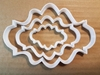 Plaque Mirror Frame Shape Cookie Cutter Dough Biscuit Pastry Fondant Sharp Stencil Name Plate Prize Award Certificate