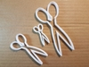 Scissors Hair Clippers Shape Cookie Cutter Dough Biscuit Pastry Fondant Sharp Stencil Hairdresser Barber Barbers Tool