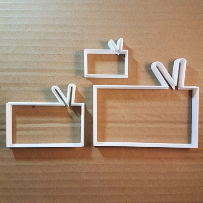 Radio Tape Retro TV Music Shape Cookie Cutter Dough Biscuit Pastry Fondant Sharp Stencil Television Electronics