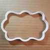 Plaque Rectangle Bubble Shape Cookie Cutter Dough Biscuit Pastry Fondant Sharp Name Frame Plate Award Stencil