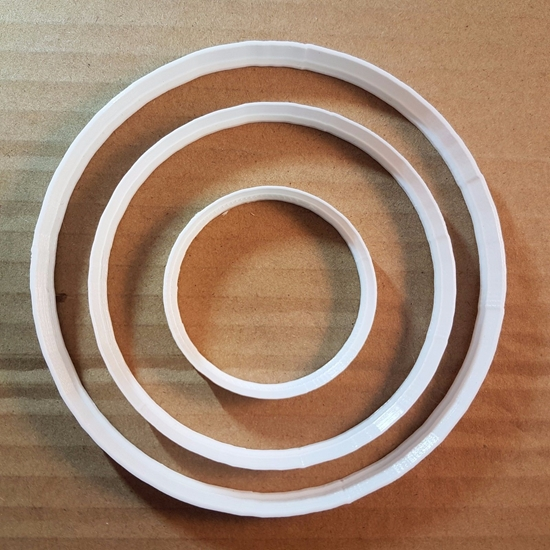 Circle Bubble Round Shape Cookie Cutter Dough Biscuit Pastry Fondant Sharp Stencil Basic Circular