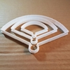 Chinese Fan Shape Cookie Cutter Dough Biscuit Pastry Fondant Sharp Stencil Geisha Japanese