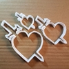 Heart Sword Valentine Shape Cookie Cutter Dough Biscuit Pastry Fondant Sharp Stencil Dagger Valentine's Day