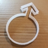 Male Mars Symbol Man Shape Cookie Cutter Dough Biscuit Pastry Fondant Sharp Men Stencil Stag Night