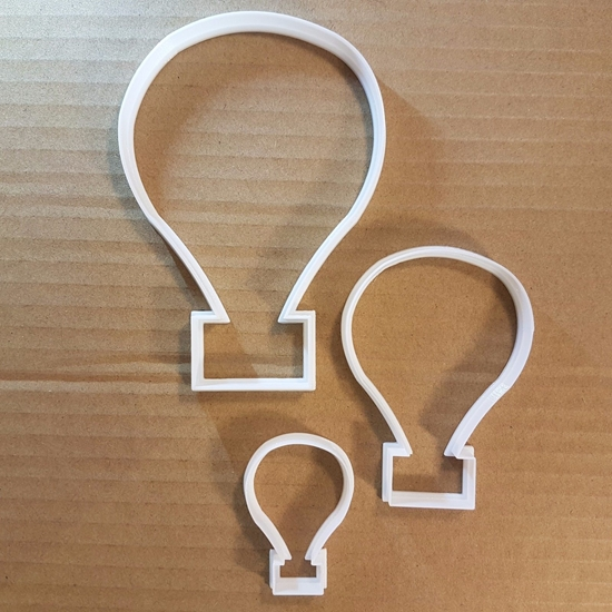 Hot Air Balloon Shape Cookie Cutter Dough Biscuit Pastry Fondant Sharp Stencil Flying Vehicle