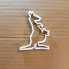 Kangaroo Joey Pouch Shape Cookie Cutter Animal Biscuit Pastry Fondant Sharp Stencil Dough Marsupial Australia Australian