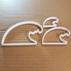 Wave Surf Sea Water Shape Cookie Cutter Dough Biscuit Pastry Fondant Sharp Stencil Ocean Beach Seaside Side Marine Waves