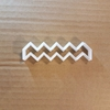 ZigZag Pattern Lightning Shape Cookie Cutter Dough Biscuit Pastry Chevron Fondant Sharp Stencil Zig Zag Geometric