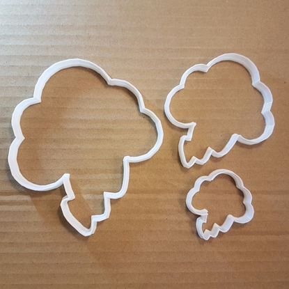 Storm Cloud Lightning Shape Cookie Cutter Dough Biscuit Pastry Fondant Sharp Stencil Weather Autumn Winter Stormcloud Rain Raincloud