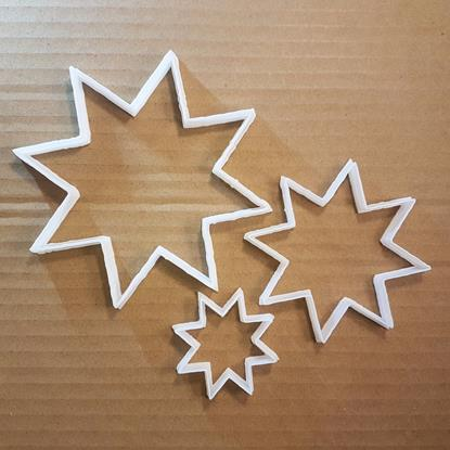Star Sun Night Dusk Light Shape Cookie Cutter Dough Biscuit Pastry Fondant Sharp Stencil Xmas Christmas 8 Point Eight