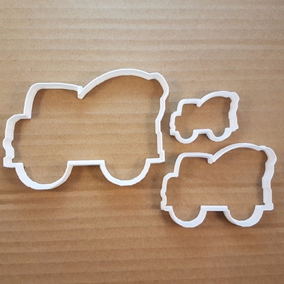 Truck Cement Mixer Lorry Shape Cookie Cutter Dough Biscuit Pastry Fondant Sharp Stencil Vehicle Car Automobile Auto Mobile