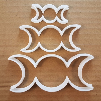 Triple Moon Full Crescent Shape Cookie Cutter Dough Biscuit Pastry Fondant Sharp Stencil Space Astrology