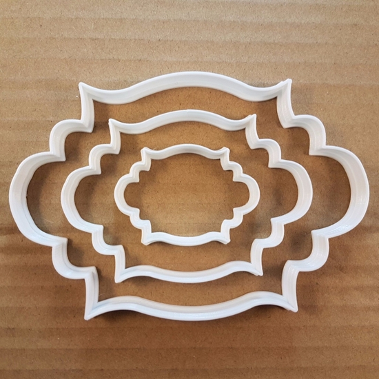 Plaque Antique Frame Shape Cookie Cutter Dough Biscuit Pastry Fondant Sharp Stencil Name Plate Prize