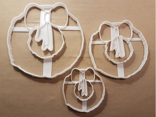 Christmas Wreath Bow Door Shape Cookie Cutter Dough Biscuit Pastry Fondant Stamp Stencil Sharp Xmas Decoration