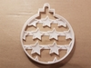 Bauble Stars Decoration Shape Cookie Cutter Dough Biscuit Pastry Fondant Stamp Stencil Sharp Xmas Christmas Tree