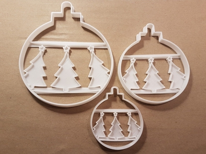 Bauble Tree Star Decoration Xmas Shape Cookie Cutter Dough Biscuit Fondant Stamp Stencil Sharp Christmas