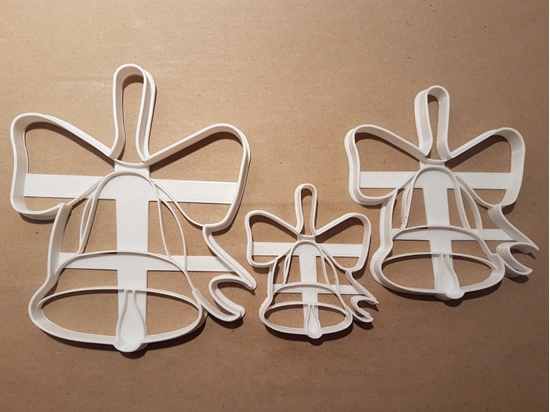 Christmas Bell Ribbon Shape Cookie Cutter Dough Biscuit Pastry Fondant Stamp Stencil Sharp Xmas Bow