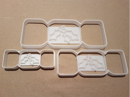 Christmas Cracker Holly Shape Cookie Cutter Dough Biscuit Pastry Fondant Stamp Xmas Stencil Sharp Game