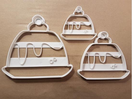 Christmas Pudding Dessert Shape Cookie Cutter Dough Biscuit Pastry Fondant Stamp Stencil Sharp Xmas Cake Food