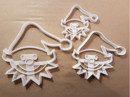 Christmas Elf Helper Toys Shape Cookie Cutter Dough Biscuit Pastry Fondant Stamp Stencil Sharp Elves Xmas