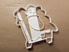 Nativity Baby Manger Shape Cookie Cutter Dough Biscuit Pastry Fondant Stamp Stencil Sharp Jesus Stable Xmas Christmas