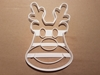 Rudolf Reindeer Christmas Shape Cookie Cutter Dough Biscuit Pastry Fondant Stamp Stencil Sharp Xmas Red Nosed Animal Rhudolf