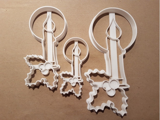 Candle Holly Nativity Shape Cookie Cutter Dough Biscuit Pastry Fondant Stamp Stencil Sharp Xmas Christmas