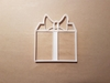Present Gift Wrapping Bow Xmas Shape Cookie Cutter Dough Biscuit Fondant Stamp Stencil Christmas Birthday