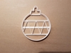 Christmas Tree Bauble Diagonal Shape Cookie Cutter Dough Biscuit Fondant Stamp Stencil Sharp Xmas Decoration