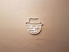 Snowman Xmas Fedora Winter Shape Cookie Cutter Dough Biscuit Fondant Stamp Stencil Christmas Snow Man Hat Smiling Head