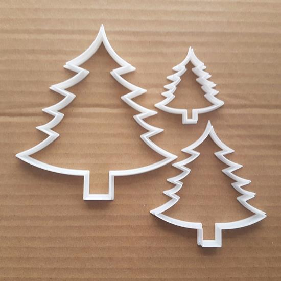 Tree Fern Christmas Xmas Shape Cookie Cutter Dough Biscuit Pastry Stencil Sharp Plant Fir