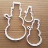 Snowman Cookie Cutter Snow Man Biscuit Dough Pastry Xmas Christmas Winter Ice Stencil Fondant Sharp Shape