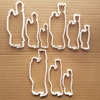 Wise Men Nativity Xmas Shape Cookie Cutter Dough Biscuit Pastry Fondant Sharp Stencil Three Christmas Holy